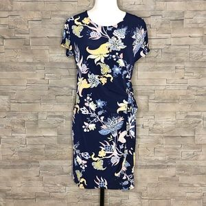 Signature by Robbie Bee navy floral dress